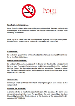 Hotel Spisertor - Rauchfreies Hotel - Smoking ban - Download